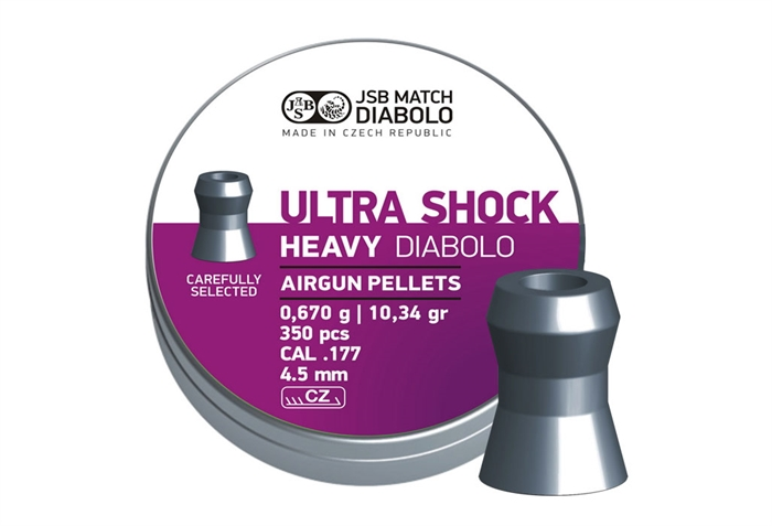Image of   JSB Ultra Shock Heavy Diabolo 4,50 mm 10.34 grain