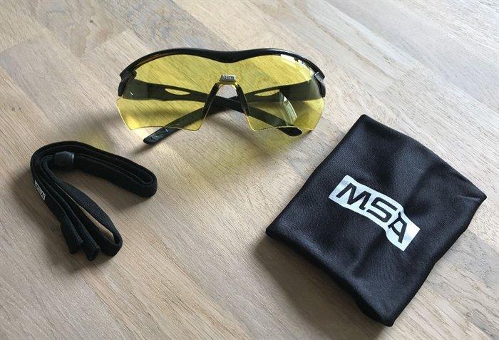 Image of   MSA Racers Skydebrille Gult Glas
