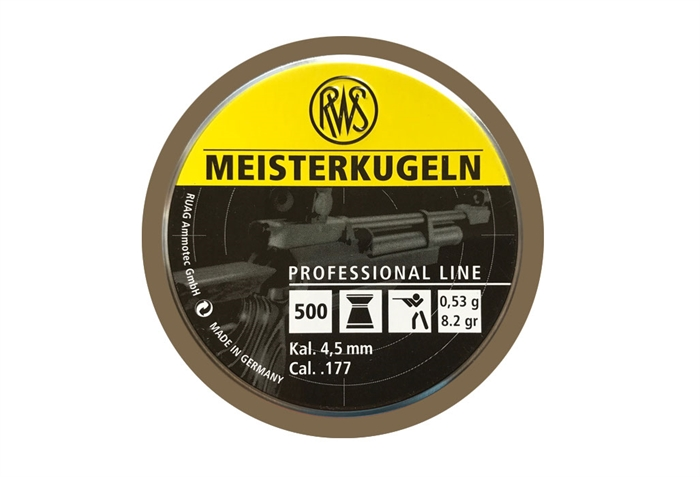 Image of   RWS Meisterkugeln 4,5 mm 8,2 grain