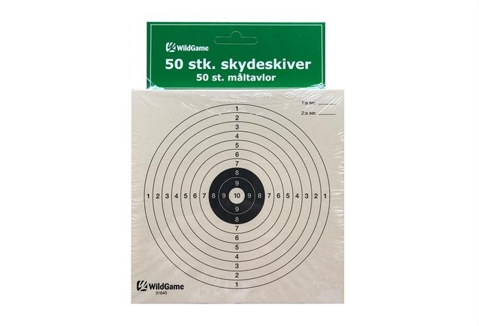 Wildgame Skydeskiver til 10 meter skydning, 1-10